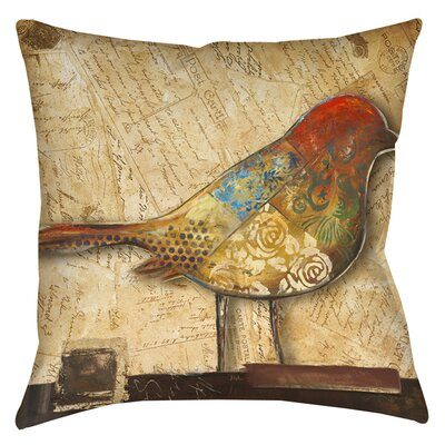 Bird Indoor/Outdoor Throw Pillow Size: 16 H x 16 W x 4 D
