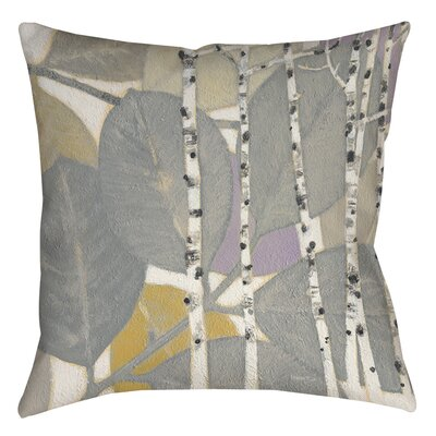 Birch Leaf 1 Printed Throw Pillow Size: 26 H x 26 W x 7 D