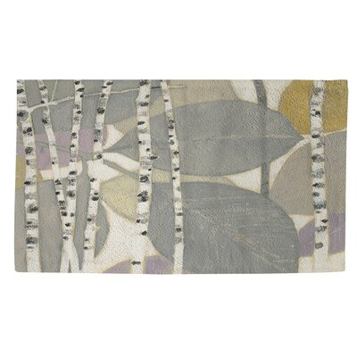 Birch Leaf 2 Grey Area Rug Rug Size: 4 x 6