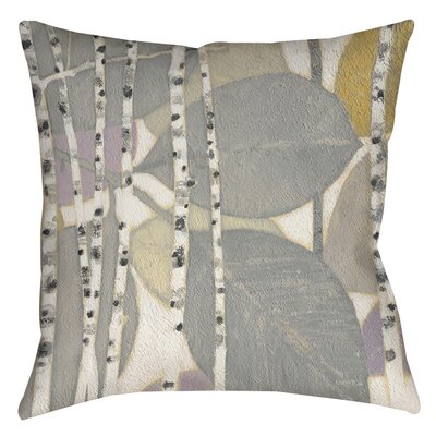 Birch Leaf 2 Indoor/Outdoor Throw Pillow Size: 16 H x 16 W x 4 D