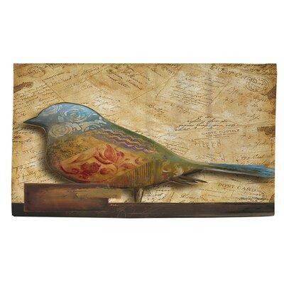 Bird of Collage 1 Beige Area Rug Rug Size: 2 x 3