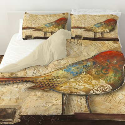 Bird of Collage 2 Duvet Cover Size: Twin