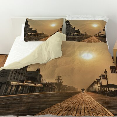 Boardwalk Sunrise Duvet Cover Size: Twin