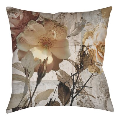 Floral Printed Throw Pillow Size: 18 H x 18 W x 5 D