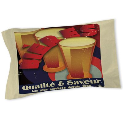 Bieres Qualite and Saveur Sham Size: Queen/King