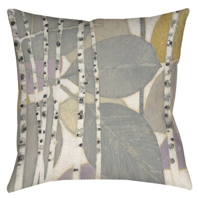 Birch Leaf 2 Printed Throw Pillow Size: 16 H x 16 W x 4 D