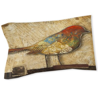 Bird Printed Sham Size: Twin