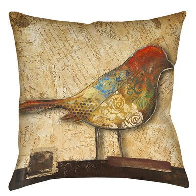 Double Sided Bird Printed Throw Pillow Size: 16 H x 16 W x 4 D
