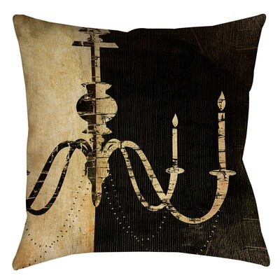 Chandelier 1 Indoor/Outdoor Throw Pillow Size: 20 H x 20 W x 5 D