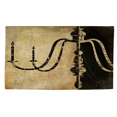Chandelier 2 Black/Tan Area Rug Rug Size: 4 x 6