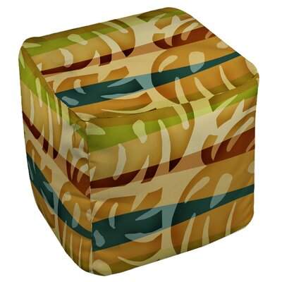Tropical Leaf Pouf