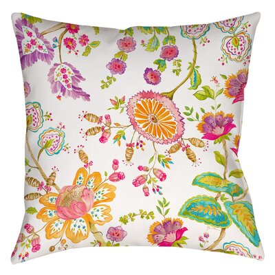 White Anima Indoor/Outdoor Throw Pillow Size: 16 H x 16 W x 4 D