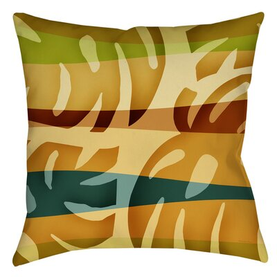 Tropical Leaf 1 Printed Throw Pillow Size: 14 H x 14 W x 3 D