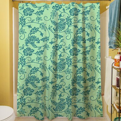 Sultry Blues Shower Curtain Color: Seafoam