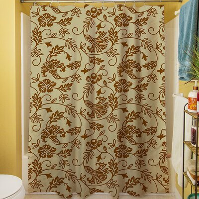 Sultry Blues Shower Curtain Color: Taupe