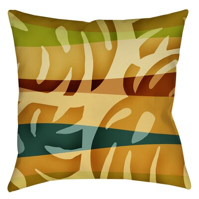 Tropical Leaf 1 Indoor/Outdoor Throw Pillow Size: 18 H x 18 W x 5 D
