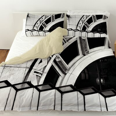 Urban Detail Arch Duvet Cover Size: Twin