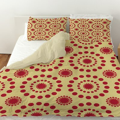 Tropical Breeze Patterns Duvet Cover Size: Queen, Color: Red