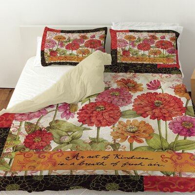 Zinnia Duvet Cover Size: King