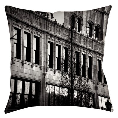 Urban Fa�ade Printed Throw Pillow Size: 16 H x 16 W x 4 D