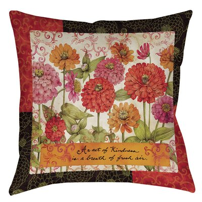 Zinnia Indoor/Outdoor Throw Pillow Size: 16 H x 16 W x 4 D