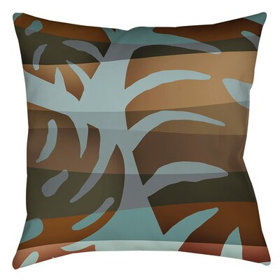 Tropical Leaf 4 Indoor/Outdoor Throw Pillow Size: 18 H x 18 W x 5 D