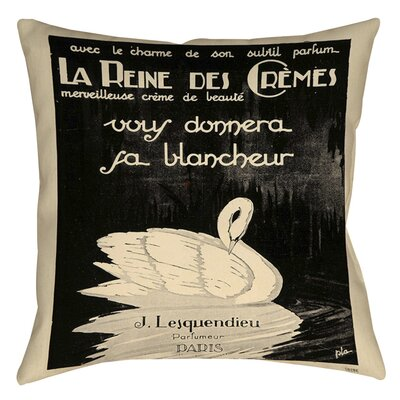 Swan Cremes Indoor/Outdoor Throw Pillow Size: 16 H x 16 W x 4 D