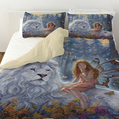Star Birth Duvet Cover Size: King