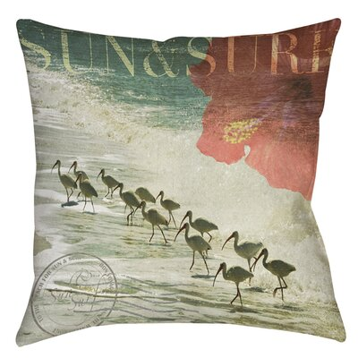Sun and Surf Indoor/Outdoor Throw Pillow Size: 16 H x 16 W x 4 D