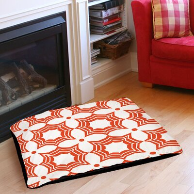 Sparkle Indoor/Outdoor Pet Bed Color: Orange, Size: 28 L x 18 W
