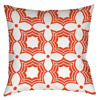 Sparkle Indoor/Outdoor Throw Pillow Color: Orange, Size: 16 H x 16 W x 4 D