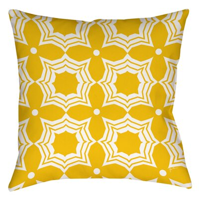 Samsel Indoor/Outdoor Throw Pillow Size: 18 H x 18 W x 5 D, Color: Yellow