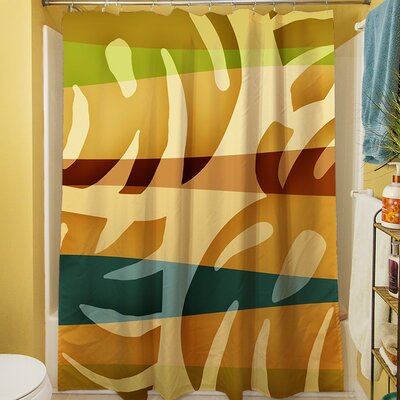 Tropical Leaf I Shower Curtain