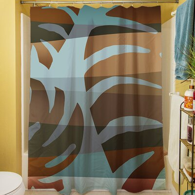 Tropical Leaf IV Shower Curtain