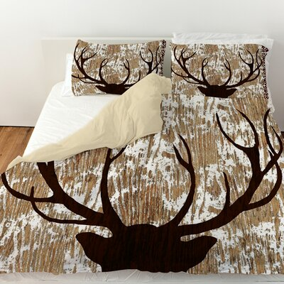 Wilderness Deer Duvet Cover Size: Twin