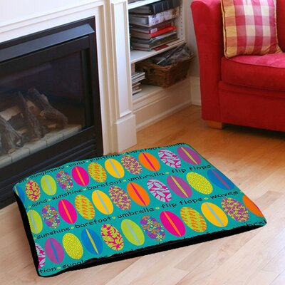 Surfs Up 1 Indoor/Outdoor Pet Bed Size: 40 L x 30 W