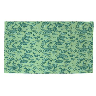 Sultry Blues Seafoam Area Rug Rug Size: 2 x 3
