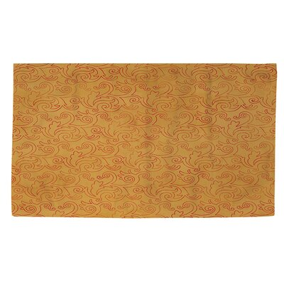 Zinnia Damask Red/Orange Area Rug Rug Size: 2 x 3