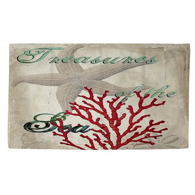 Treasures of the Sea Area Rug Rug Size: 4 x 6