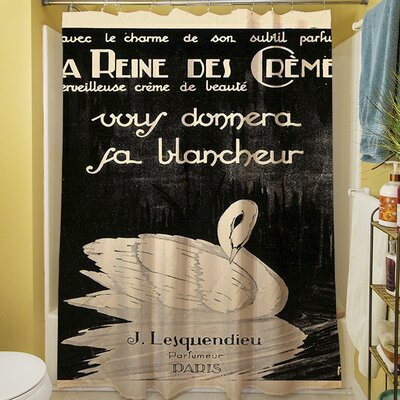 Swan Cremes Shower Curtain