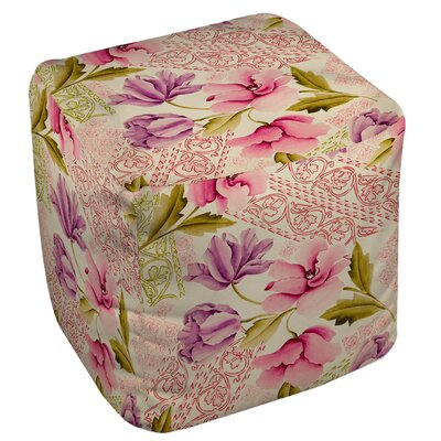 Tulips and Lace Ottoman