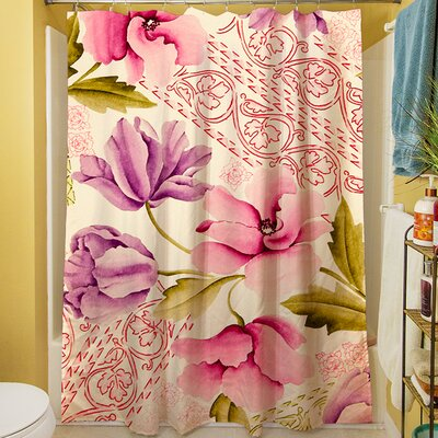 Tulips and Lace Shower Curtain