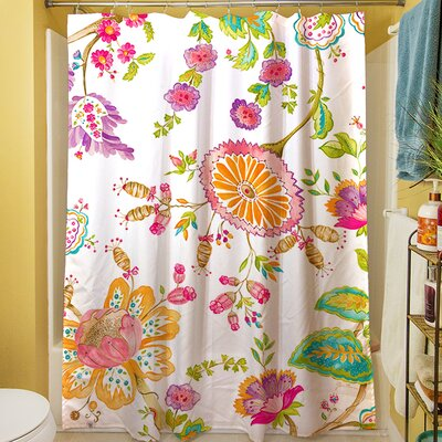 White Anima Shower Curtain