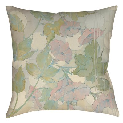 Summer Vine 1 Indoor/Outdoor Throw Pillow Size: 16 H x 16 W x 4 D