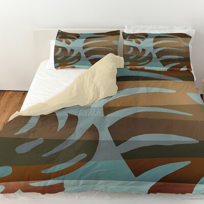 Tropical Leaf 4 Duvet Cover Size: Queen