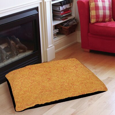 Zinnia Damask Indoor/Outdoor Pet Bed Size: 28 L x 18 W