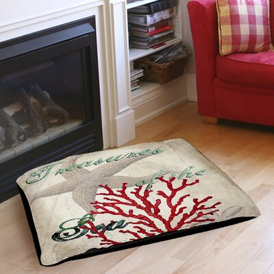 Treasures of the Sea Indoor/Outdoor Pet Bed Size: 50 L x 40 W