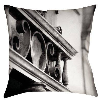 Urban Detail Scroll Printed Throw Pillow Size: 16 H x 16 W x 4 D