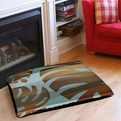 Tropical Leaf 4 Indoor/Outdoor Pet Bed Size: 50 L x 40 W
