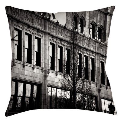 Urban Fa�ade Indoor/Outdoor Throw Pillow Size: 18 H x 18 W x 5 D